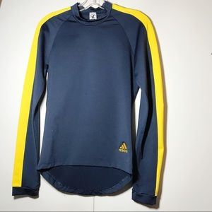 Adidas Rash Guard Long Sleeve Navy Gold
